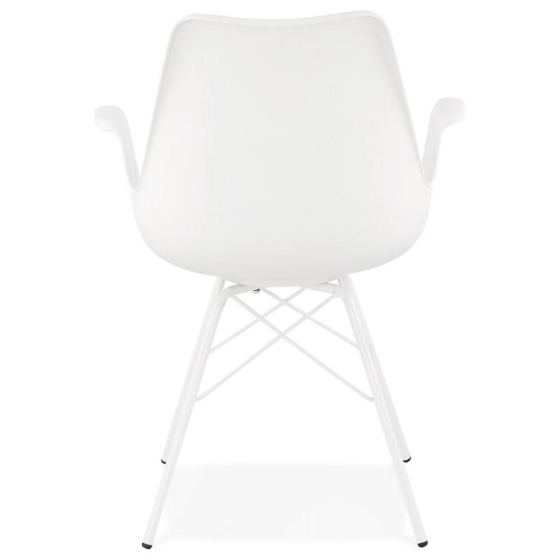 Chaise design industrielle avec accoudoirs ORCHIS en polypropylène (blanc) - image 43310