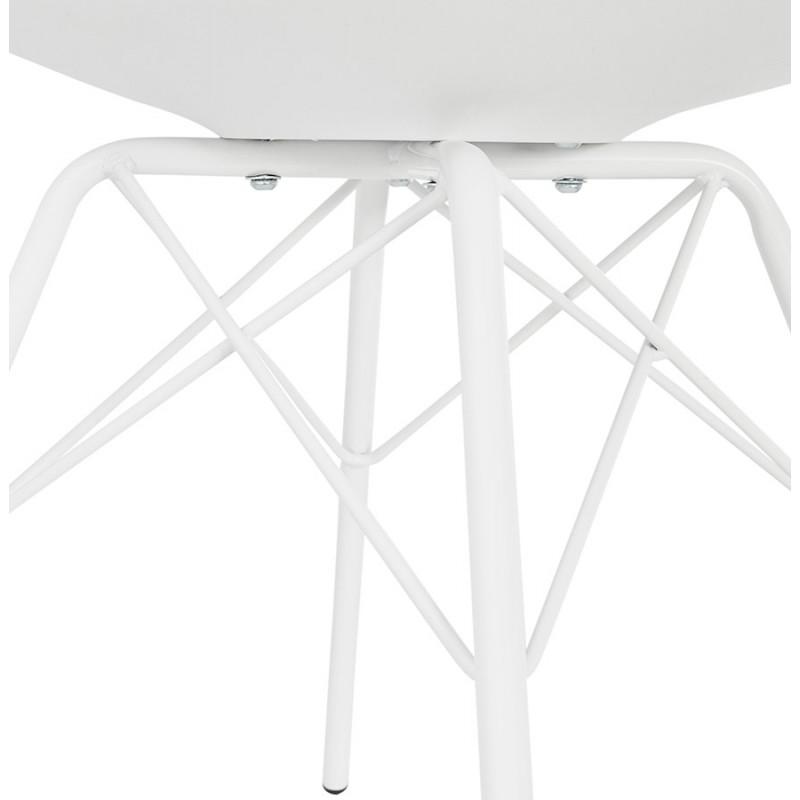 Chaise design industrielle avec accoudoirs ORCHIS en polypropylène (blanc) - image 43313