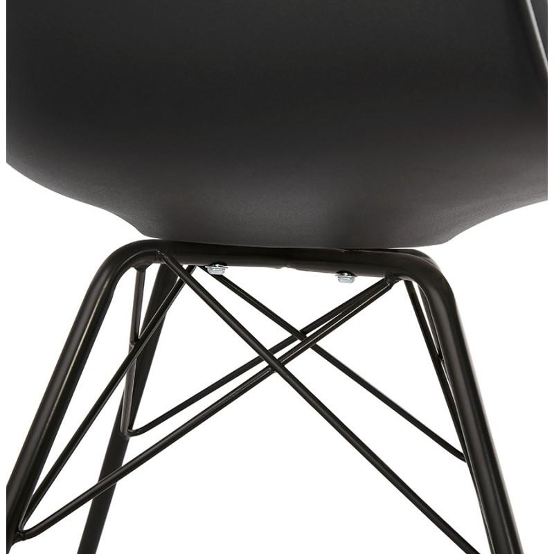 Chaise design industrielle avec accoudoirs ORCHIS en polypropylène (noir) - image 43323
