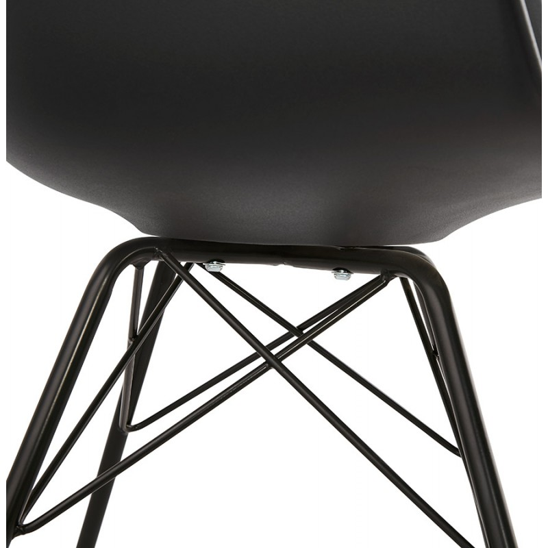 Industriedesignstuhl mit ORCHIS Armlehnen aus Polypropylen (schwarz) - image 43323