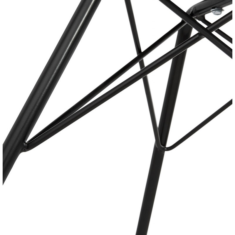 Industrial design chair with ORCHIS armrests in polypropylene (black) - image 43324