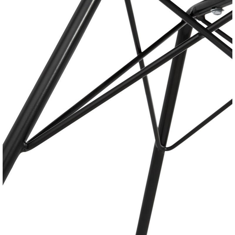 Chaise design industrielle avec accoudoirs ORCHIS en polypropylène (noir) - image 43324