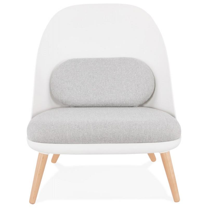 AGAVE Sedia a sdraio di design scandinavo AGAVE (bianco, grigio chiaro) - image 43327
