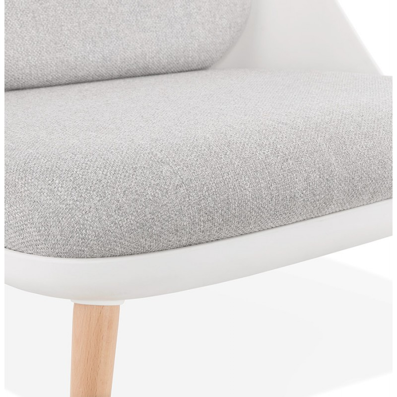 Fauteuil lounge design scandinave AGAVE (blanc, gris clair) - image 43332