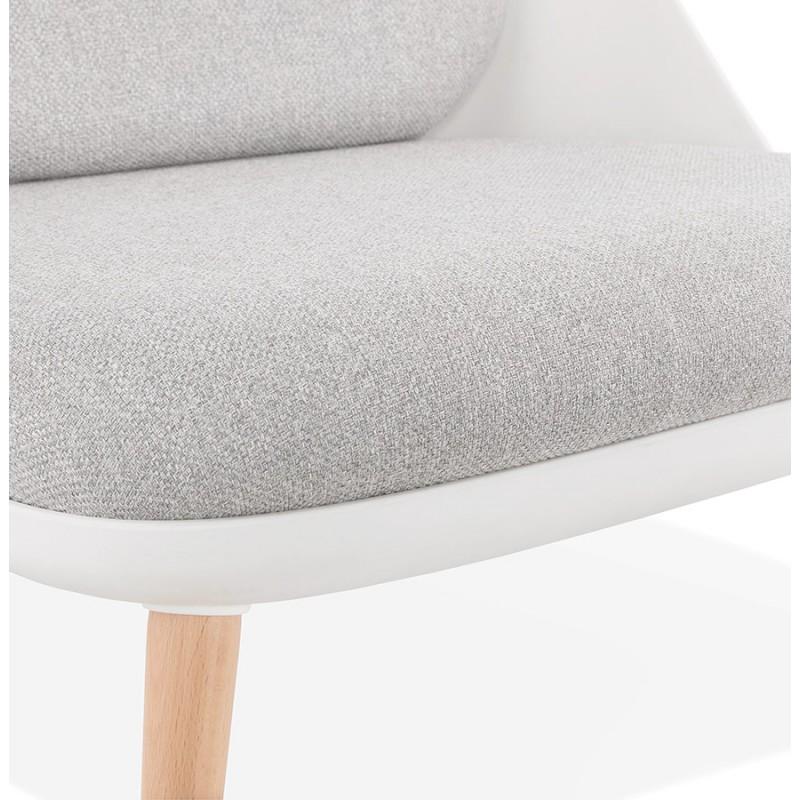 Silla de salón de diseño escandinavo AGAVE (blanco, gris claro) - image 43332