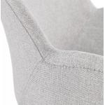 Fauteuil à bascule design EDEN en tissu (gris clair)