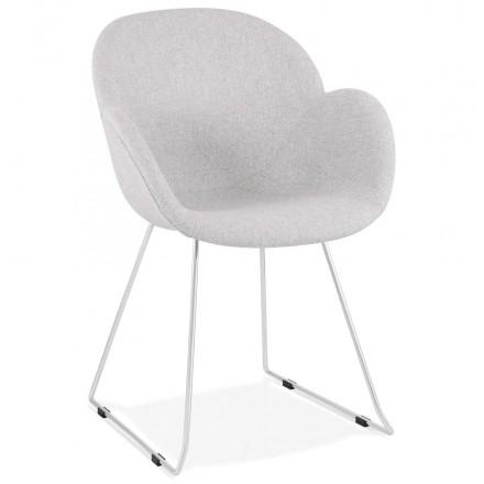 ADELE konverkint Fuß Design Stuhl aus Stoff (hellgrau)