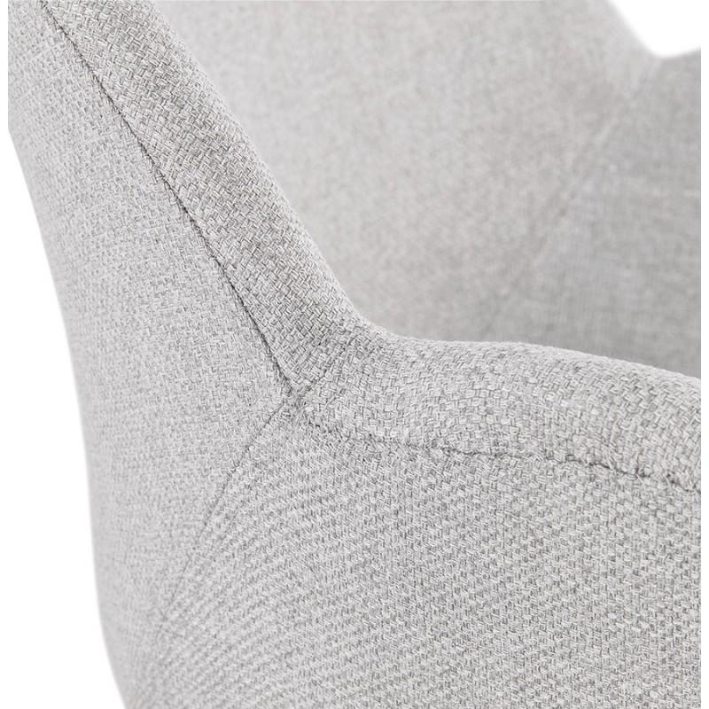 Chaise design pied effilé ADELE en tissu (gris clair) - image 43359
