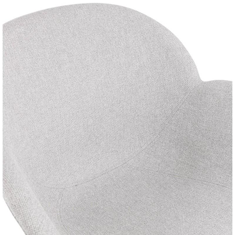 Chaise design style industriel TOM en tissu pieds métal chromé (gris clair) - image 43395