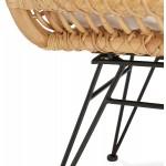 Rattan Stuhl mit PITAYA Fuß unruhig schwarz (natürlich)