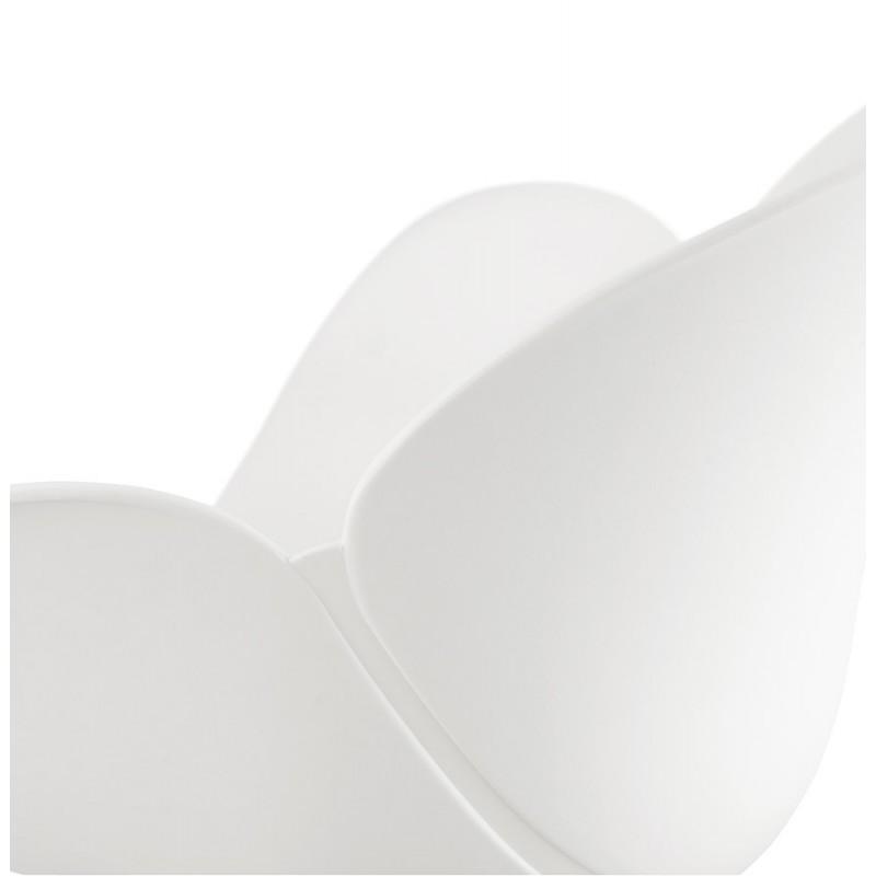 Chaise de bureau sur roulettes SORBIER en polypropylène pieds métal chromé (blanc) - image 43466