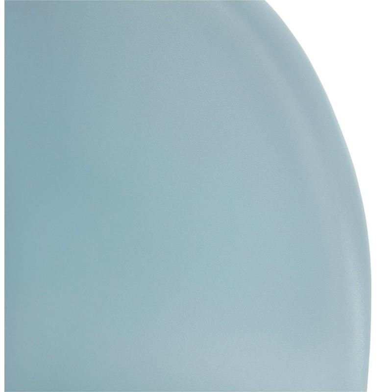 Chaise de bureau sur roulettes SORBIER en polypropylène  pieds métal chromé (bleu ciel) - image 43482