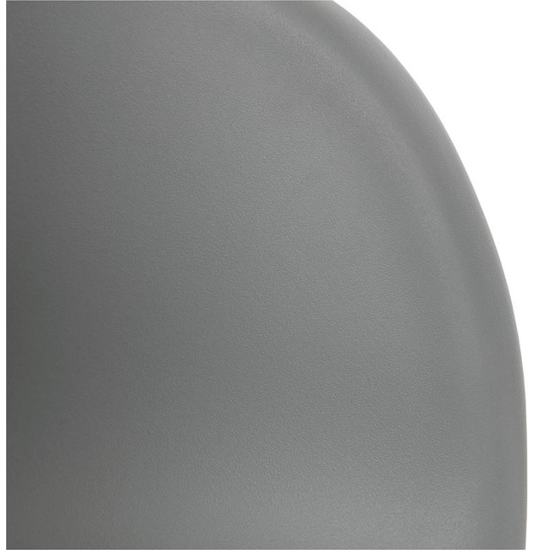 Chaise de bureau sur roulettes SORBIER en polypropylène pieds métal chromé (gris) - image 43496
