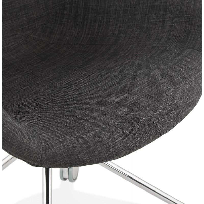 Chaise de bureau sur roulettes CAPUCINE en tissu (gris anthracite) - image 43501
