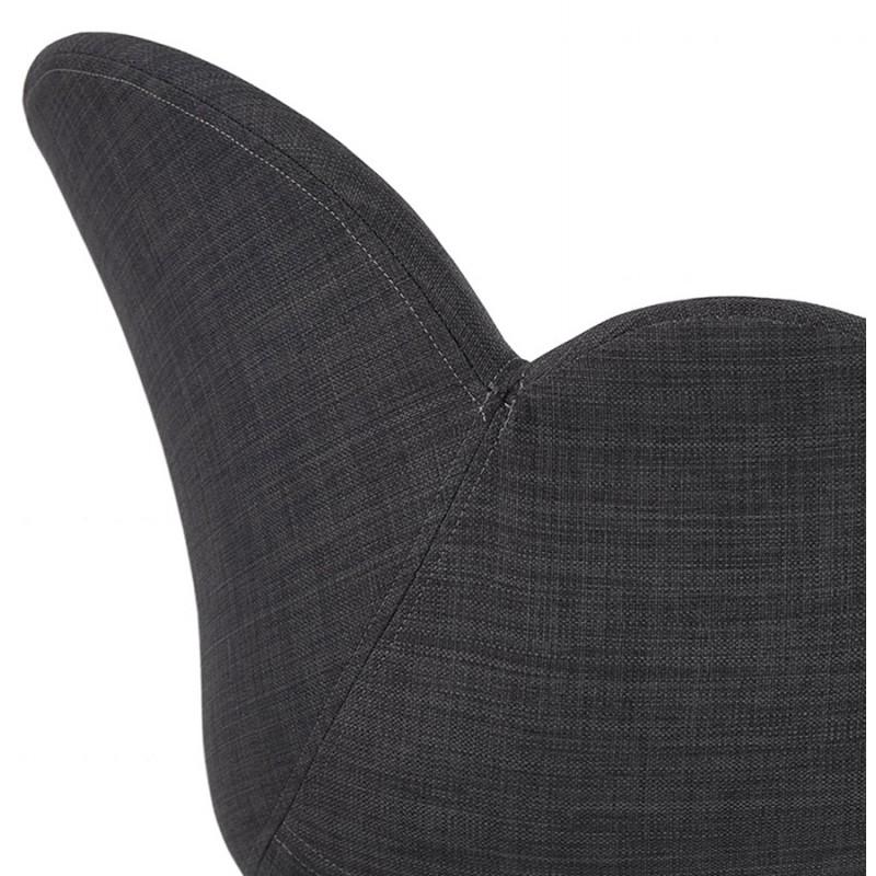 Chaise de bureau sur roulettes CAPUCINE en tissu (gris anthracite) - image 43504