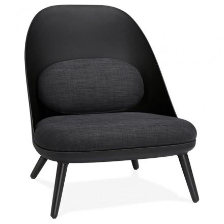 AGAVE skandinavischer Design Lounge Stuhl (dunkelgrau, schwarz)
