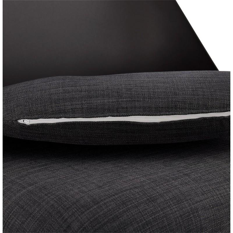 Fauteuil lounge design scandinave AGAVE (gris foncé, noir) - image 43595