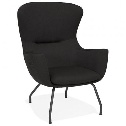 Sedia in tessuto LIchIS CONTEMPORANEO (nero)