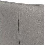 Fauteuil à oreilles contemporain  LICHIS en tissu (gris clair)