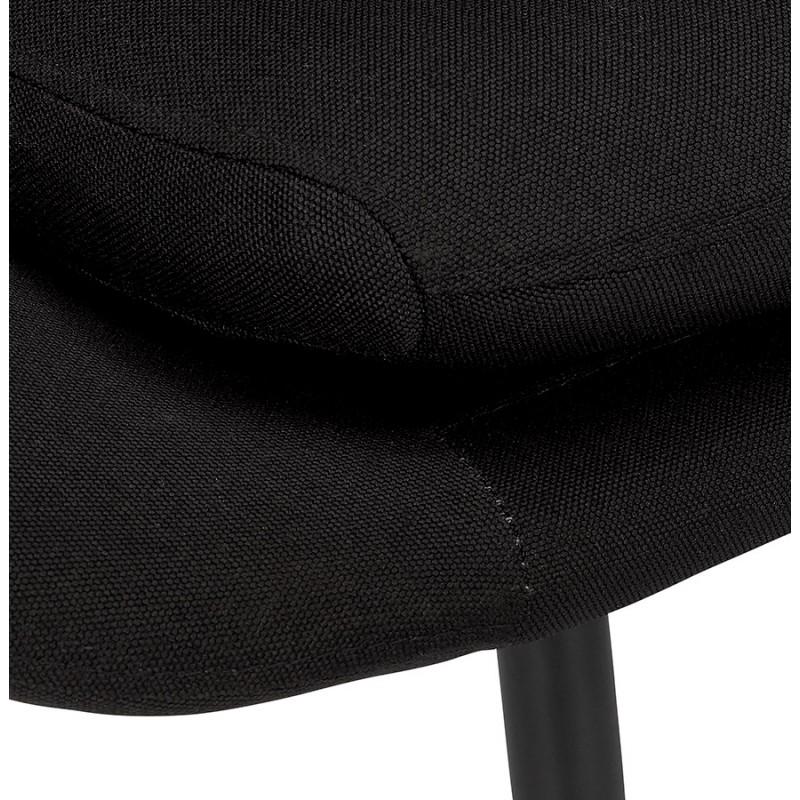 Fauteuil design lounge GOYAVE en tissu (noir) - image 43650