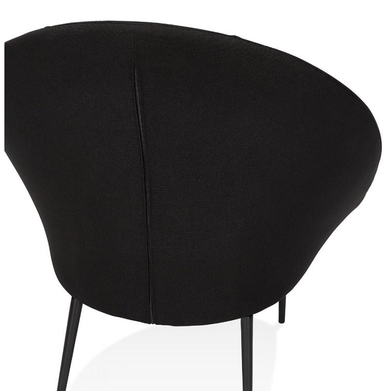 Fauteuil design lounge GOYAVE en tissu (noir) - image 43652