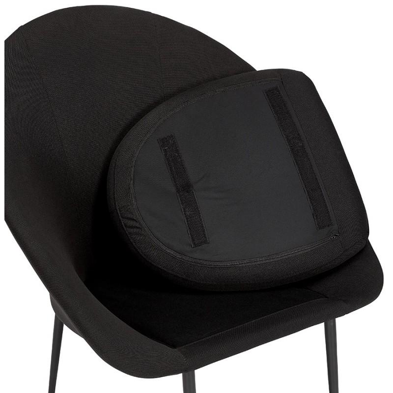 Fauteuil design lounge GOYAVE en tissu (noir) - image 43655