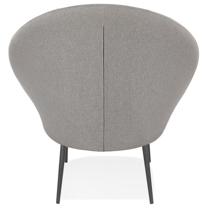 Fauteuil design lounge GOYAVE en tissu (gris clair) - image 43661