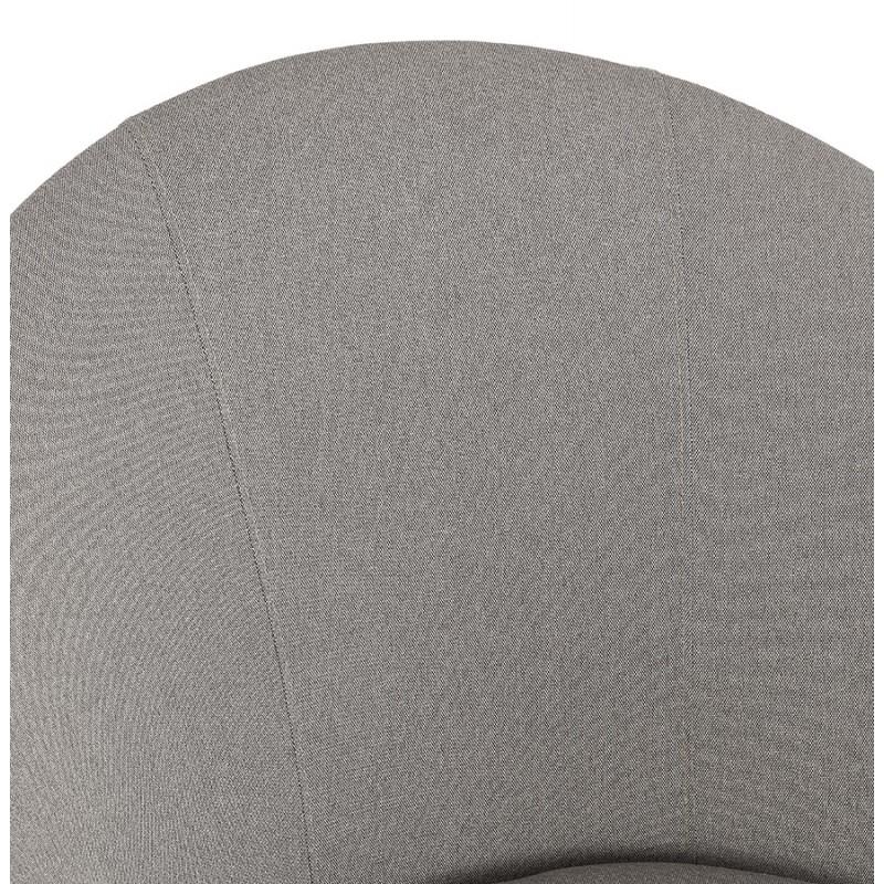 Fauteuil design lounge GOYAVE en tissu (gris clair) - image 43665