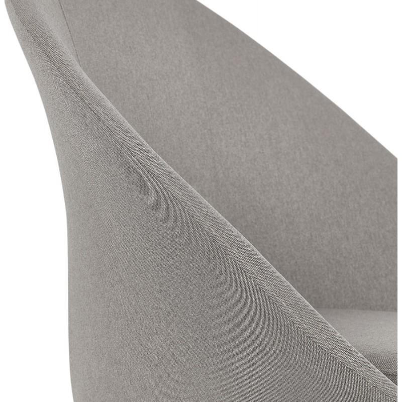 Fauteuil design lounge GOYAVE en tissu (gris clair) - image 43666