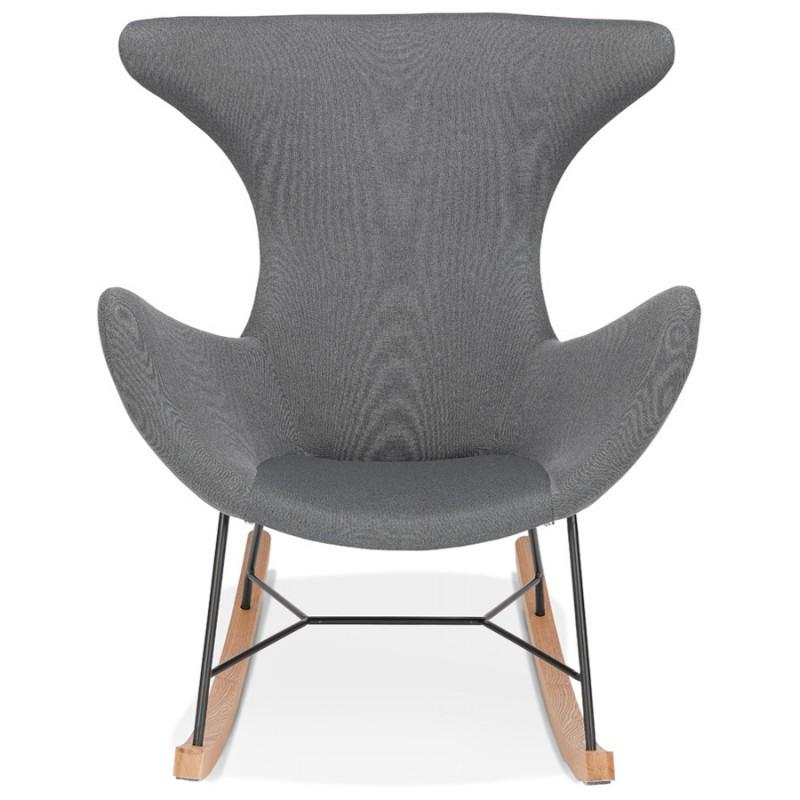 Rocking chair KABOSU en tissu (gris clair) - image 43671