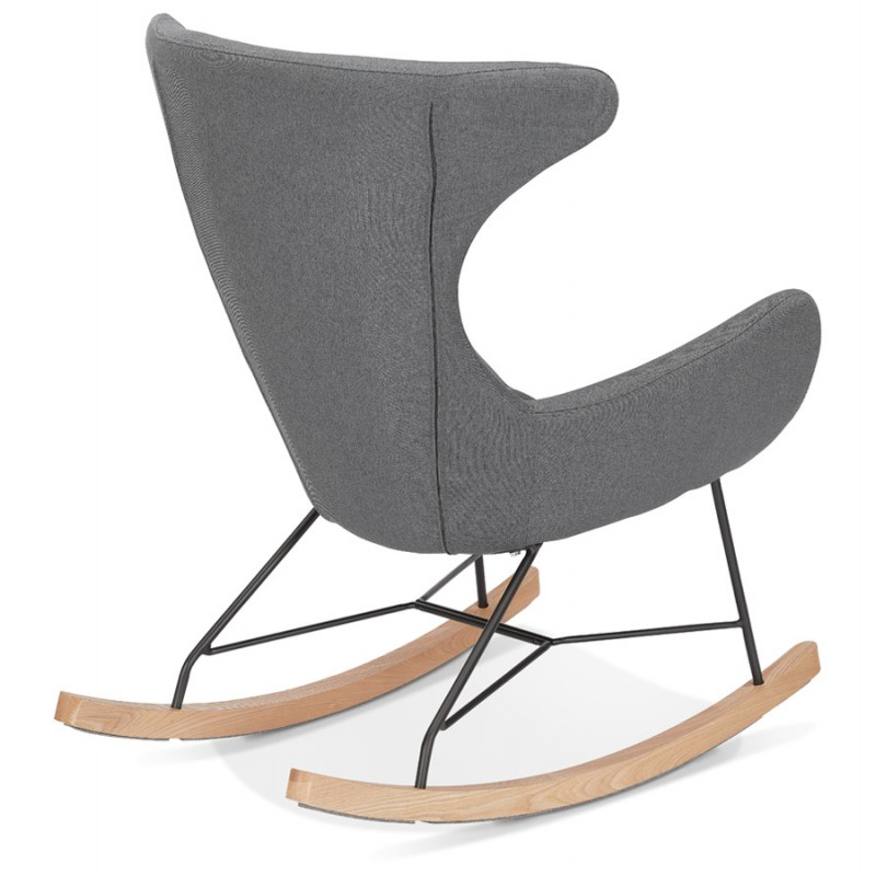Rocking chair KABOSU en tissu (gris clair) - image 43673