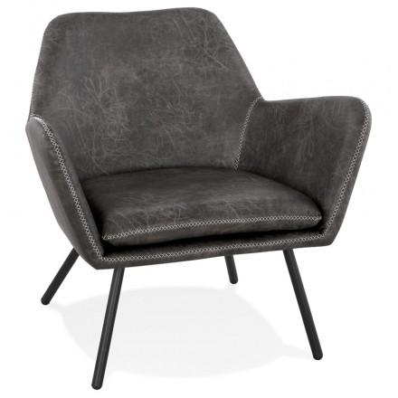 Hiro retro und Vintage Lounge Stuhl (dunkelgrau)