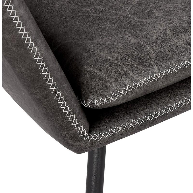 Fauteuil lounge rétro et vintage HIRO (gris foncé) - image 43690