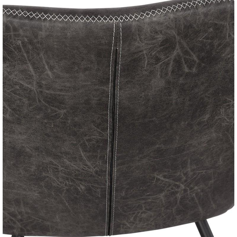 Fauteuil lounge rétro et vintage HIRO (gris foncé) - image 43694