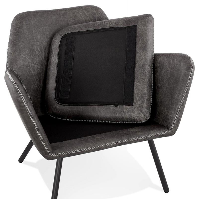 Fauteuil lounge rétro et vintage HIRO (gris foncé) - image 43696