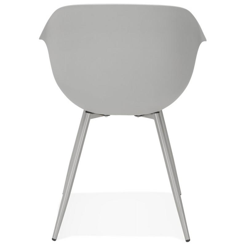 Chaise design scandinave avec accoudoirs COLZA en polypropylène (gris) - image 43702