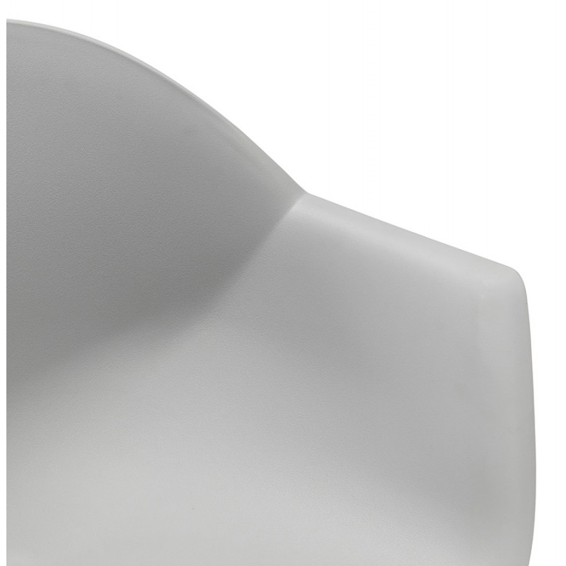 Chaise design scandinave avec accoudoirs COLZA en polypropylène (gris) - image 43706