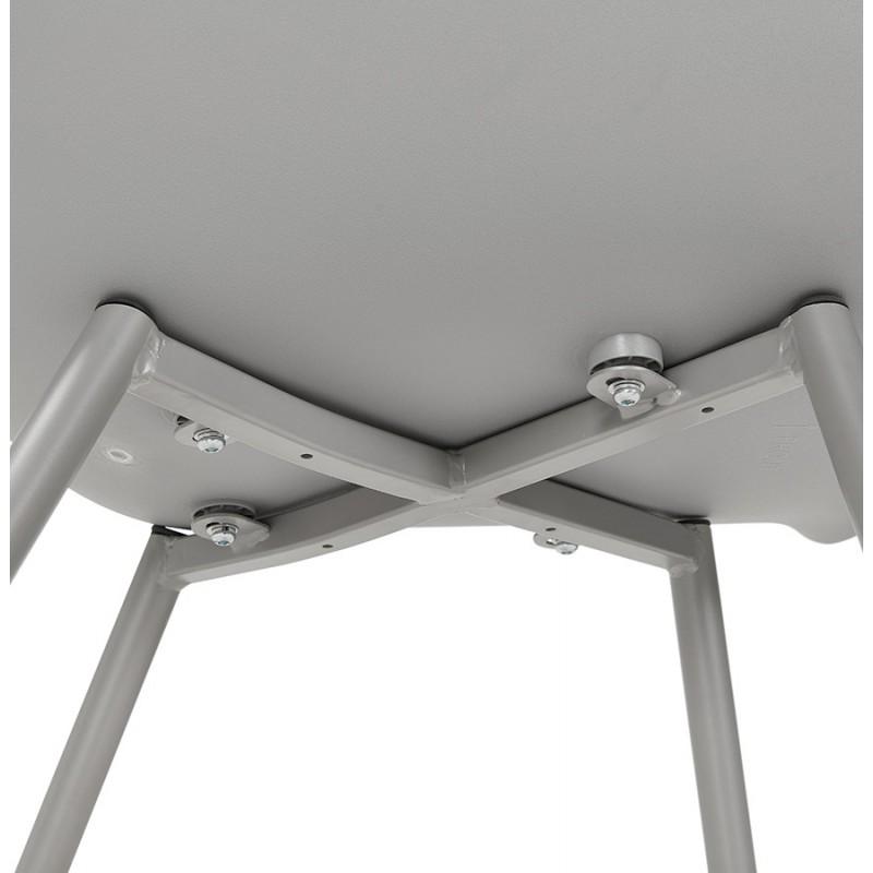 Chaise design scandinave avec accoudoirs COLZA en polypropylène (gris) - image 43708
