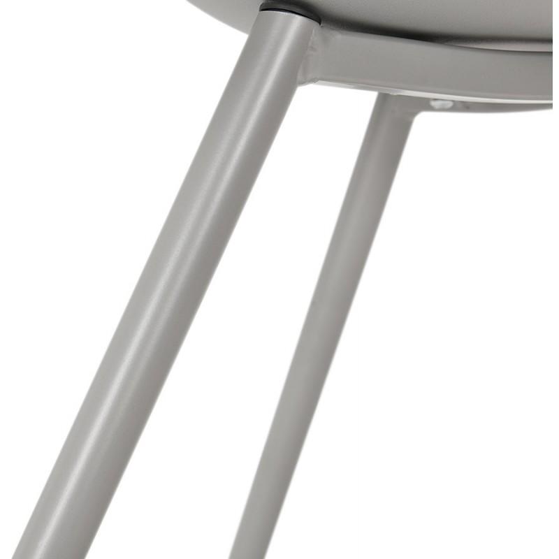 Chaise design scandinave avec accoudoirs COLZA en polypropylène (gris) - image 43710