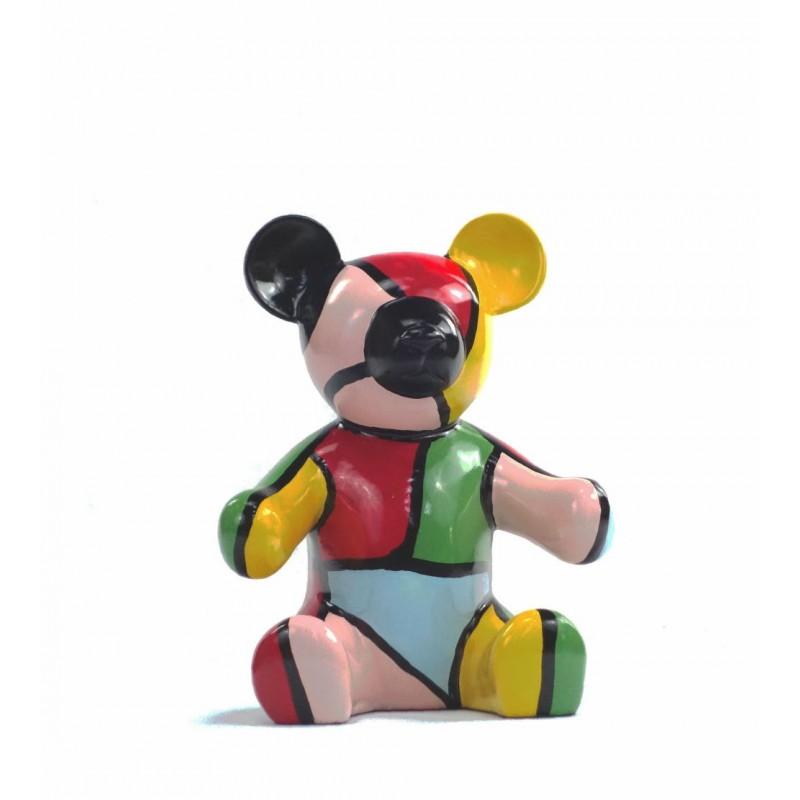 Set di 3 statue sculture decorative disegno NOUNOURS resina H46/29/21 cm (Multicolor) - image 43717