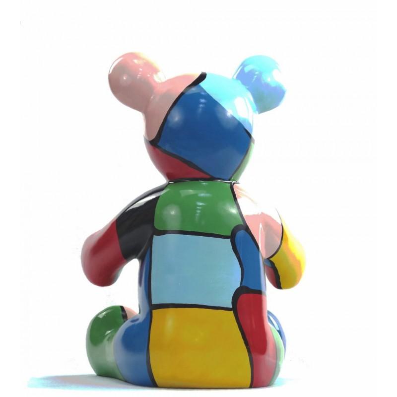 Set di 3 statue sculture decorative disegno NOUNOURS resina H46/29/21 cm (Multicolor) - image 43723