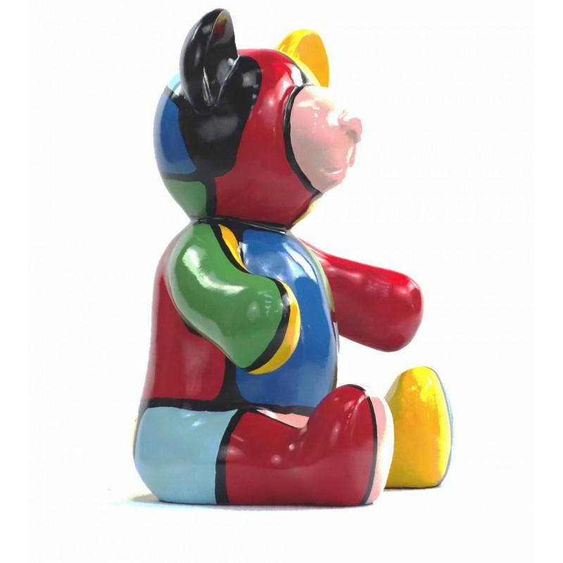 Set di 3 statue sculture decorative disegno NOUNOURS resina H46/29/21 cm (Multicolor) - image 43724