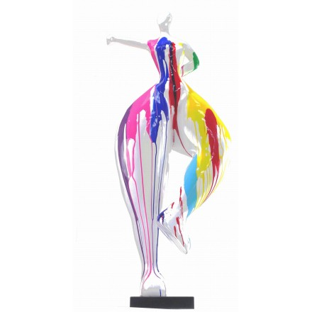 Escultura decorativa de estatua WOMAN ELEGANTE en resina H138 cm (Multicolor)
