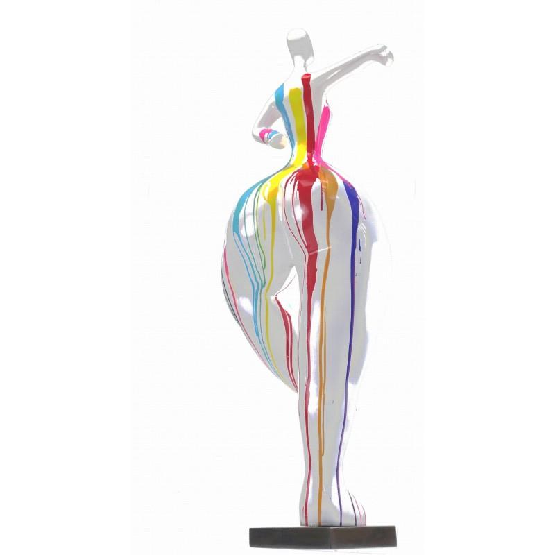 Statua scultura decorativa disegno DONNA ELEGANTE in resina H138 cm (multicolore) - image 43753