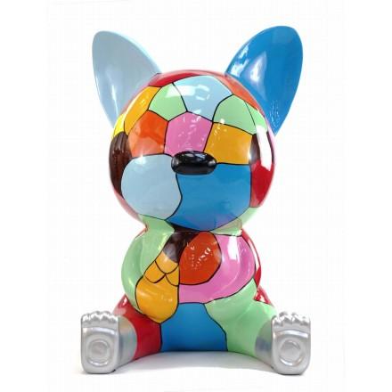 Diseño de escultura decorativa de la estatua CHAT ASSIS POP ART en resina H100 cm (Multicolor)