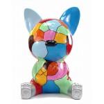 Statue decorative sculpture design CHAT ASSIS POP ART in resin H100 cm (Multicolored)
