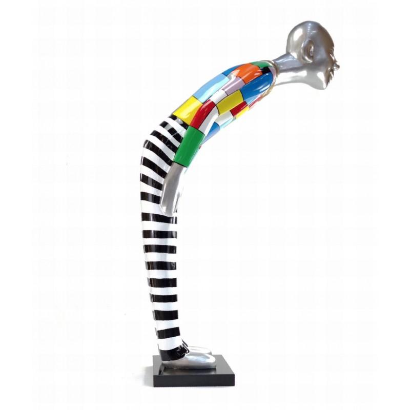 Diseño de escultura decorativa de la estatua BIENVENIDO en resina H155 cm (Multicolor)