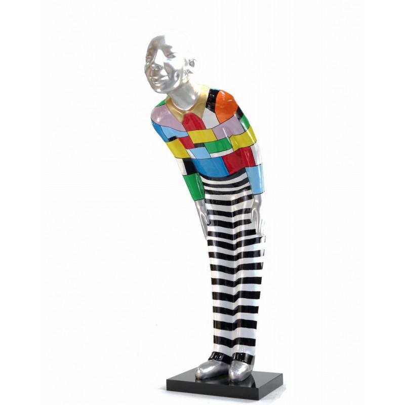 Statua scultura decorativa disegno BENVENUTO in resina H155 cm (Multicolore) - image 43789