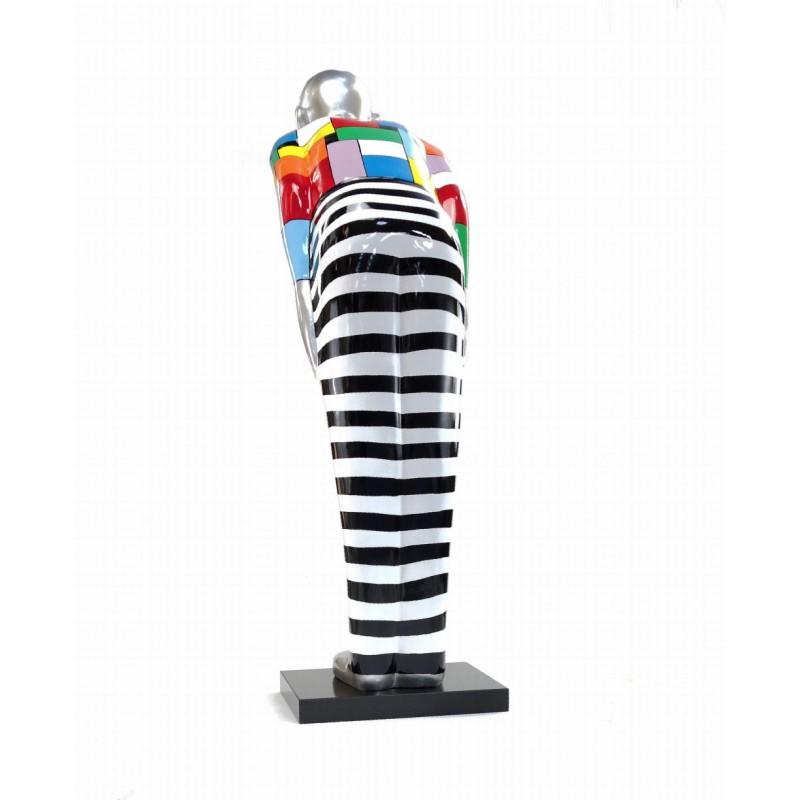 Statua scultura decorativa disegno BENVENUTO in resina H155 cm (Multicolore) - image 43791