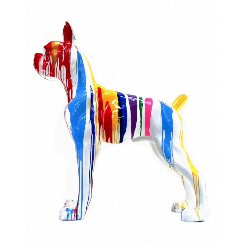 Statue sculpture décorative design CHIEN DEBOUT FLASHY en résine H150 cm (Multicolore) - image 43841